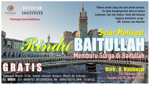 Rindu Baitullah Brosur